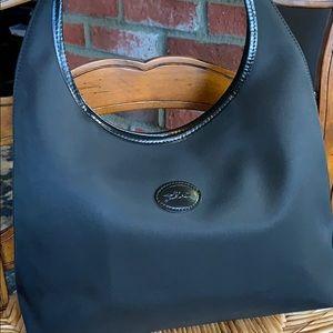 Longchamp black  nylon bag beautiful carry once